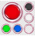 set colored plastic buttons vector image