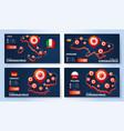 set coronavirus banner outbreak from wuhan vector image