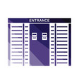 stadium entrance turnstile icon vector image