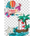 Summer style background vector image vector image