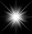sunlight with lens flare effect white color vector image vector image