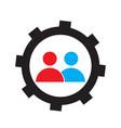 teamwork concept icon vector image vector image