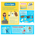 templates for housework cleaning washing vector image vector image