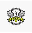 tennis club badge logo-2 vector image vector image