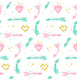 trendy bridal seamless pattern vector image