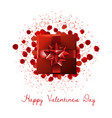 valentines day sale background with heart vector image vector image