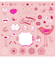 Valentines elements vector image vector image
