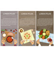 vegetarian menu for lunch vector image vector image