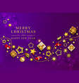 violet christmas banner xmas background vector image vector image