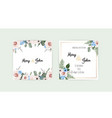 wedding set with invitations set of vector image vector image