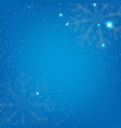 xmas banner with snowflake vector image vector image