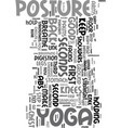 yoga journal text word cloud concept vector image vector image