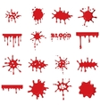 Blood set collection vector image