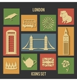 London flat icons vector image