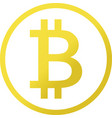 icon of bitcoin cryptocurrency symbol vector image