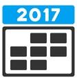 2017 Calendar Grid Flat Icon vector image vector image