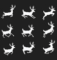 a set silhouettes running deer collection vector image vector image