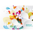 Abstract colored background with shapes