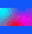 abstract irregular polygonal background neon blue vector image vector image