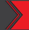 abstract red gray arrow design modern vector image vector image