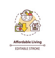 affordable living concept icon