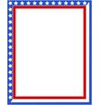 american patriotic border vector image vector image