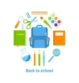 Back to school background design vector image vector image