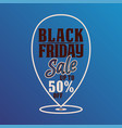 black friday banner or background for promotion vector image