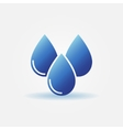 Blue water drops icon vector image
