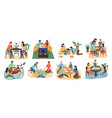 board games family set stay home parents with vector image
