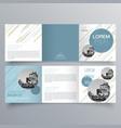 brochure design 957 vector image