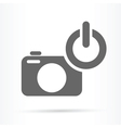 camera power on symbol icon vector image vector image