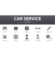 car service simple concept icons set contains vector image