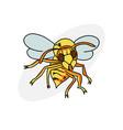 cartoon hornet vector image vector image