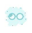 cartoon sunglasses icon in comic style eyewear vector image