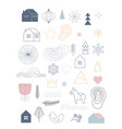christmas hand drawn simple vector image