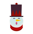 christmas snowman character decorative icon vector image vector image