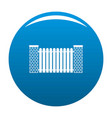 city fence icon blue vector image