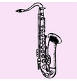 classical saxophone vector image vector image