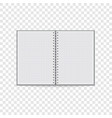 clean notebook icon realistic style vector image vector image