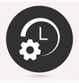 clock time icon deadline symbol vector image vector image