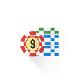 color gambling chips set icon vector image