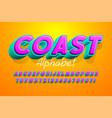colorful 3d display font design alphabet letters vector image