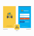 company tractor splash screen and login page vector image