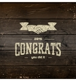 Congratulation badges cards and labels for any use vector image