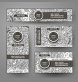 corporate identity templates set design vector image