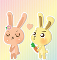 couple cony vector image vector image