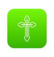 crucifix icon digital green vector image vector image