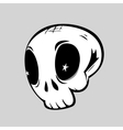 Cute skull isolated vector image