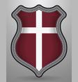 denmark orlogsflaget variant flag badge and icon vector image vector image